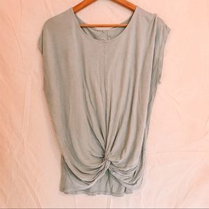 XL Green Front Tie/Knot Top